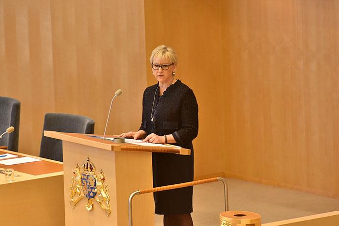 Minister spraw zagranicznych Szwecji Margot Wallström
