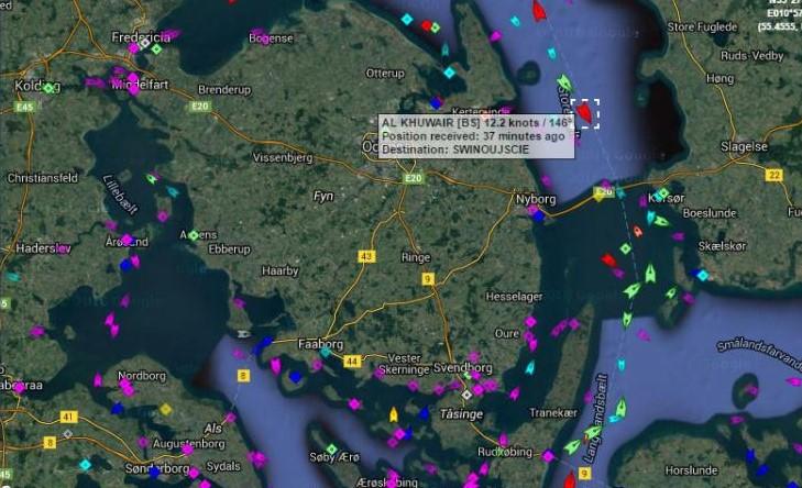 Źródło: Marine Traffic