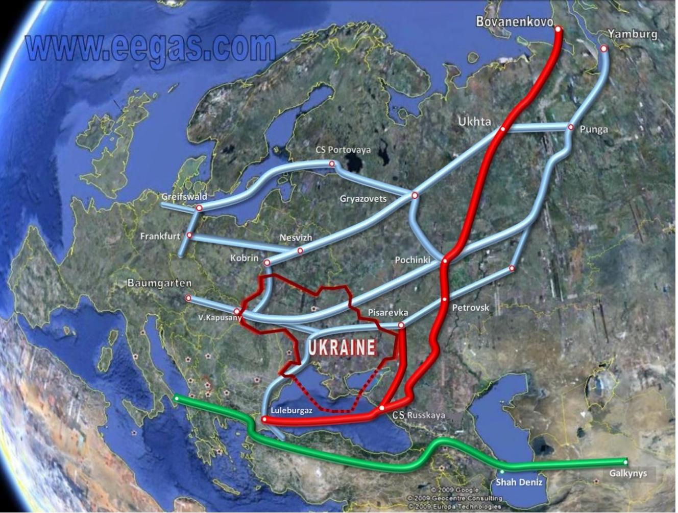 Turkish Stream i Południowy Korytarz Gazowy. Źródło: eegas.com