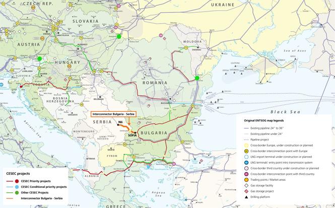 Infrastruktura CESEC. Grafika: Komisja Europejska
