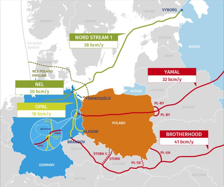 Gazociągi w Polsce i Niemczech. Fot. PGNiG