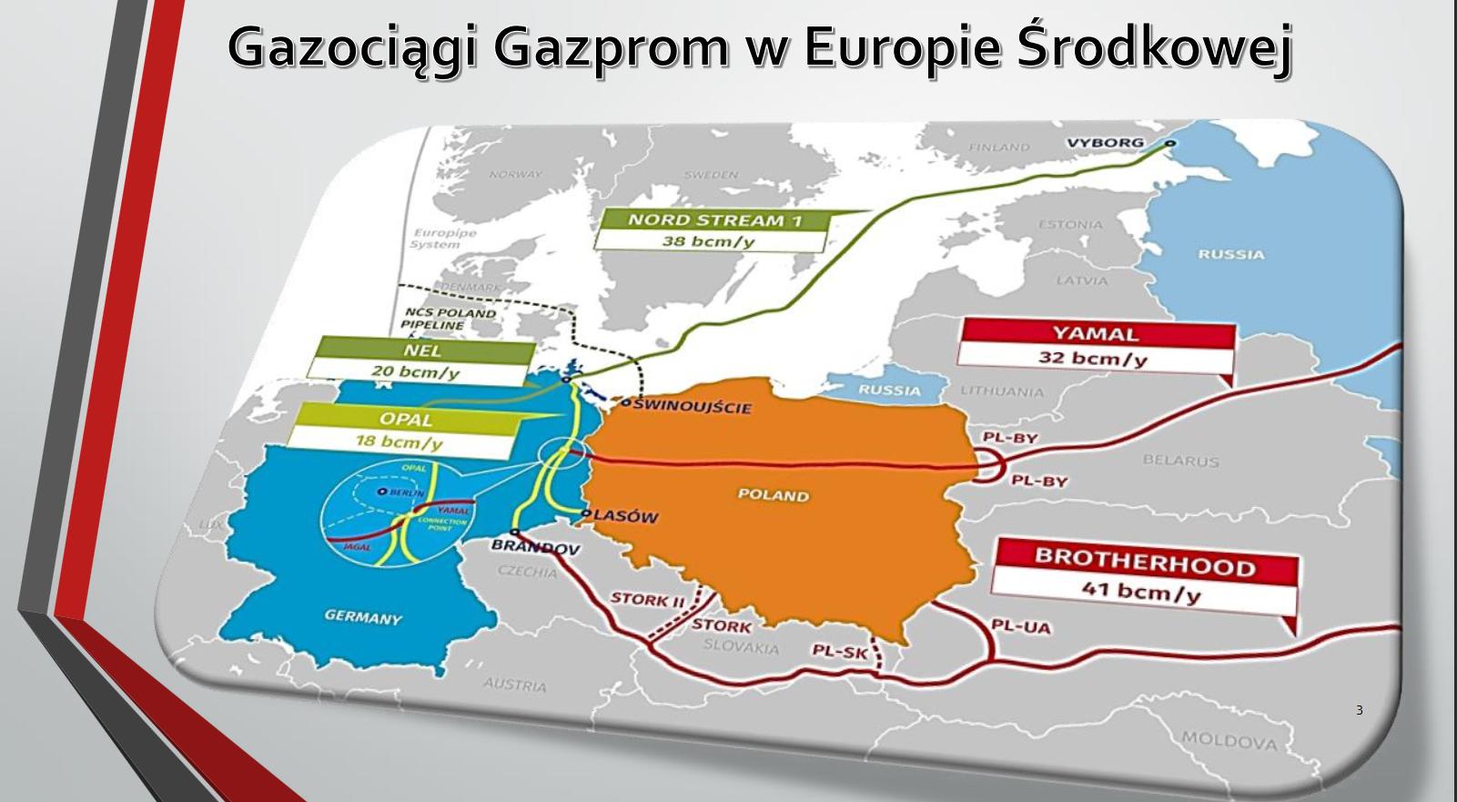 Gazociągi Gazpromu w Europie Środkowej. Fot. BiznesAlert.pl