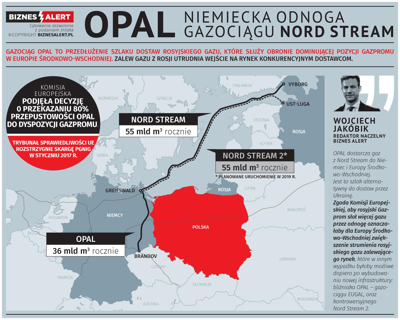 Nord Stream i OPAL. Grafika: BiznesAlert.pl