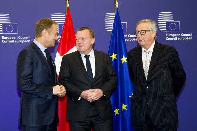 Fot. Rada Europejska, Rasmussen, Tusk, Junkcer