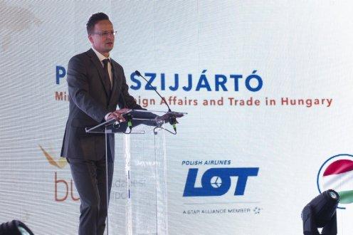 Minister spraw zagranicznych Węgier Peter Szijjarto.Źródło: kormany.hu