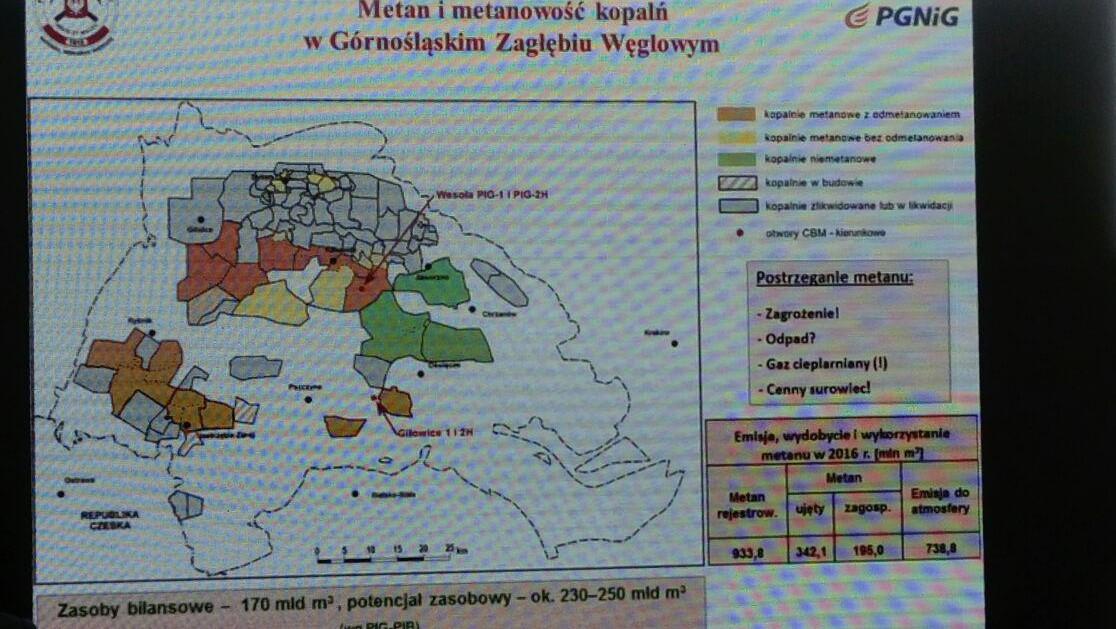 Mapa kopalń na Górnym Śląsku i poziom emisji metanu Fot. BiznesAlert.pl