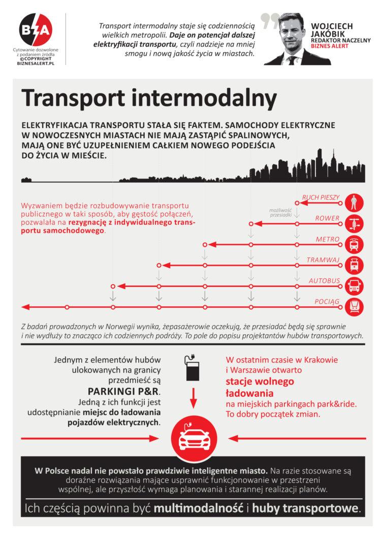Transport intermodalny. Infografika: BiznesAlert.pl
