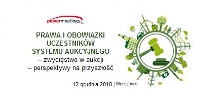 Seminarium: Prawa i obowiązki uczestników systemu aukcyjnego