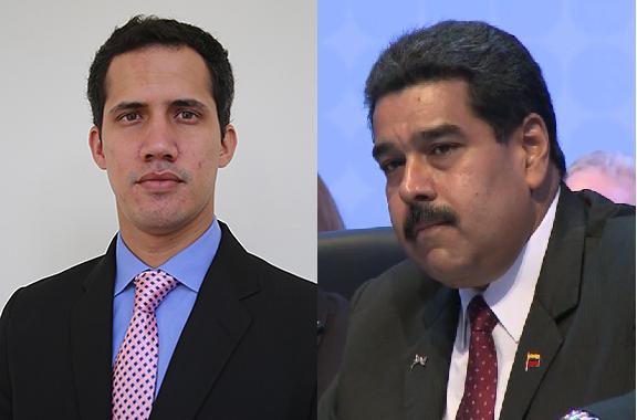 Juan Guaido i Nicolas Maduro Wikimedia Commons