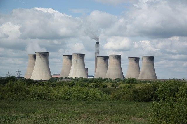 Elektrownia Cottam w Wielkiej Brytanii. Źródło: WikiCommons