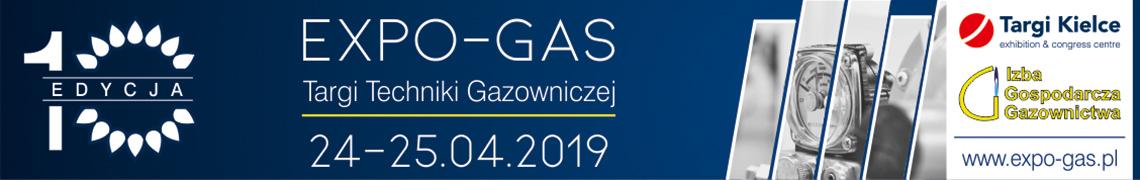 XEdycja TargówTechniki Gazowniczej EXPO-GAS wKielcach