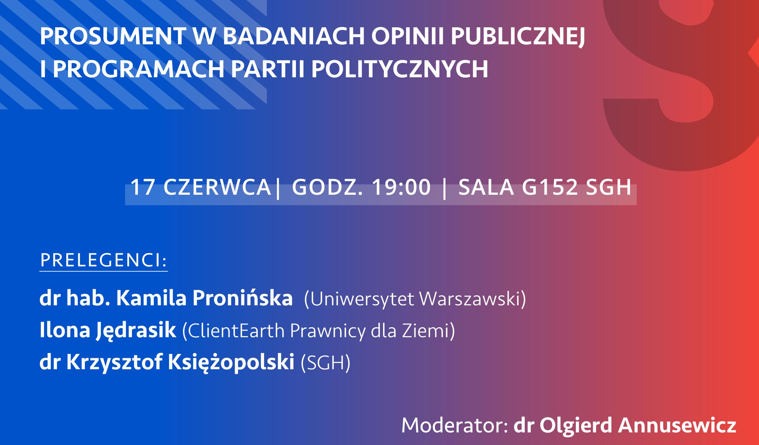 Prosument w badaniach opinii publicznej i programach partii politycznych