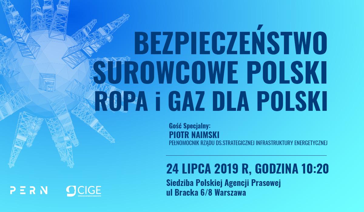 Debata: Ropa i gaz dla Polski. Gość specjalny – Piotr Naimski