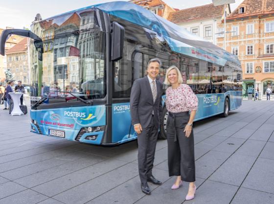 Wodorowy autobus w Graz w Austrii