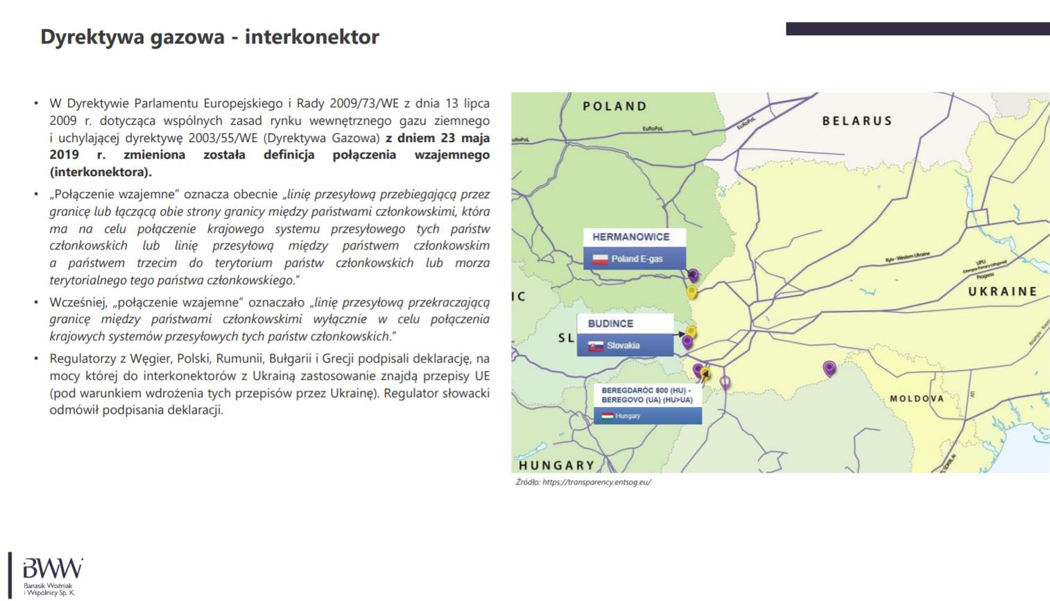 Perspektywy połączenia gazowego z Ukrainą. Grafika: Kancelaria BWW