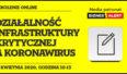Webcast: Działalność Infrastruktury krytycznej a koronawirus