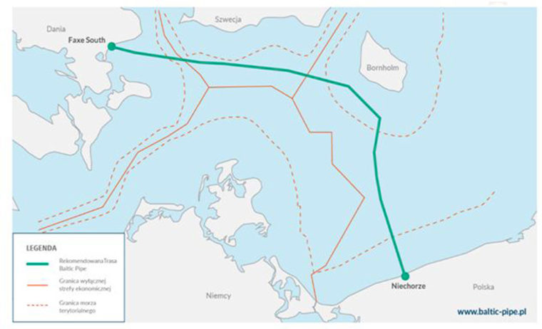 Baltic Pipe trasa