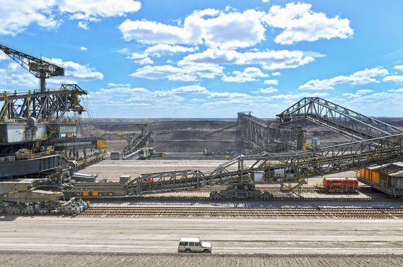 Odkrywka węgla brunatnego w Niemczech Tagebau Nochten. Fot. LEAG