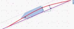 Linia fioletowa oznacza gazociąg leżący na dnie, linia czerwona gazociąg znajdujący się nad powierzchnią wody, fot. Mariusz Marszałkowski