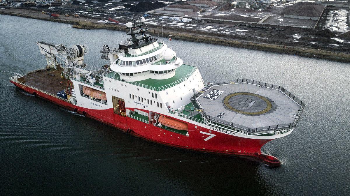 Statek wsparcia prac głębokowodnych Seven Falcon fot. Subseas 7