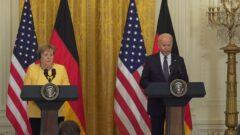 Angela Merkel i Joe Biden w Białym Domu. Fot. Urząd Kanclerski w Niemczech