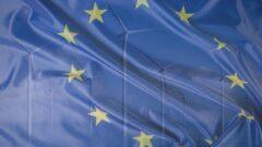 Morskie farmy wiatrowe i Unia Europejska. Grafika: Gabriela Cydejko