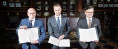 Ministrowie spraw zagranicznych Polski, Ukrainy i Litwy. Fot. Ministerstwo Spraw Zagranicznych