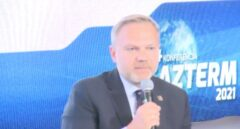 Prezes Tauron Nowe Technologie Artur Warzocha podczas Gazterm 2021. Fot. BiznesAlert.pl