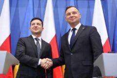 Prezydenci Polski i Ukrainy Andrzej Duda oraz Wołodymyr Zełeński. Fot. Kancelaria Prezydenta RP