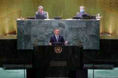 Prezydent Andrzej Duda w ONZ. Fot. Kancelaria Prezydenta RP