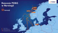 Koncesje PGNiG w Norwegii. Grafika: PGNiG