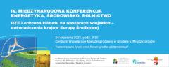 OZE i ochrona klimatu na obszarach wiejskich – doświadczenia krajów Europy Środkowej. Grafika organizatora.
