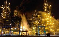 Pożar w rafinerii Naftan fot. MCzS