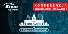 """Konferencja """"Energia Nowoczesnych Miast"""" w Szczecinie. Grafika organizatora."""