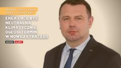 Prezes Grupy Enea Paweł Szczeszek. Fot. Grupa Enea. Grafika: Gabriela Cydejko.