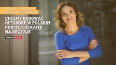 Monika Morawiecka, Prezes PGE Baltica. Fot.: PGE Baltica. Grafika: Gabriela Cydejko.