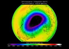 Wir polarny w prognozie pogody na wrzesień 2021 roku. Fot. Amerykańska Agencja Meteorologiczna