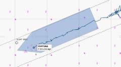 Barka Fortuna wykonuje AWTI nitki A Nord Stream 2