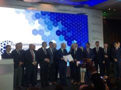 Podpisanie porozumienia na rzecz gospodarki wodorowej. Fot. Mariusz Marszałkowski